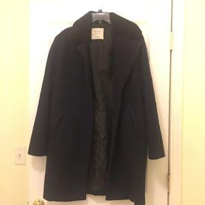 Zara basic navy pea coat